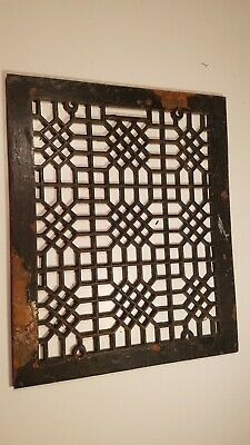 Antique Cast Iron Ornate Heavy Arts & Craft Style Heat Grate