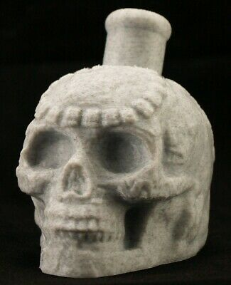 Mayan / Aztec Death Whistle Marble Stone Skull *** MADE IN USA ***