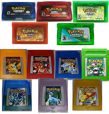 Pokemon Gameboy Color/Advance Legacy Pack (All 12 Games!) Ultimate Collection!