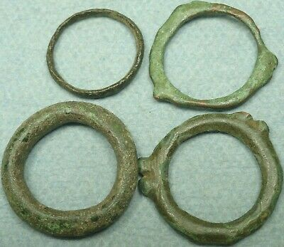 Lot Of 4 Celtic Bronze Proto-Money Rings