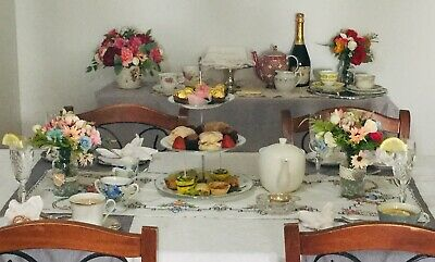 High Tea Mobile Vintage  Crockery Hire Package For 10