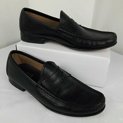 Marks & Spencer Luxury Collection Black Leather Formal Shoes UK 8.5 - Perfect