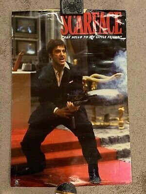 """Scarface Al Pacino Movie Poster """"Say Hello To My Little Friend"""""""