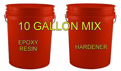 10 Gallon Kit 1:1 - Industrial Epoxy Resin + Hardener Custom Flooring