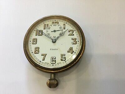 Antique 8 Day Travel Clock - D F & C. Swiss Made Movement