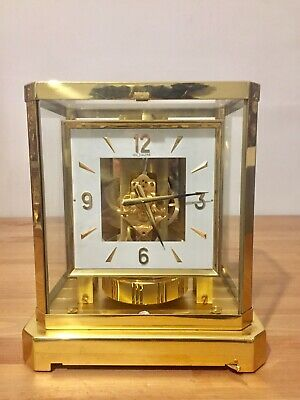 Vintage Jaeger LeCoultre 528 Atmos Clock 24 Carat Gold Plated!