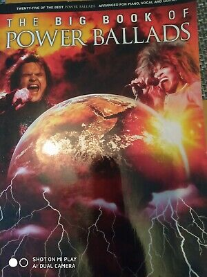 The Big Book of Power Ballads for Piano, Voice and Guitar Paperback Book The