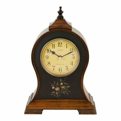 Rhythm Antique Style Wooden Mantel Clock - Westminster Chime
