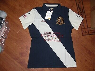 Bnwt Ladies Joules Burghley Official Polo Top In French Navy Size 10.Rrp £54.95