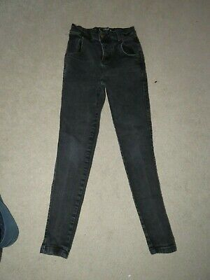 "Boy's SikSilk Skinny Jeans in Charcoal - Size XS W28"" L27"" Freshly laundered"