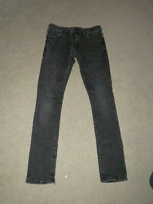 "Boy's River Island Skinny Jeans Black - Size W28"" L28"" Freshly laundered"