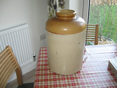 Large Stoneware Jar No 3 Antique Collectible 43 cms high 10 cms Dia Opening