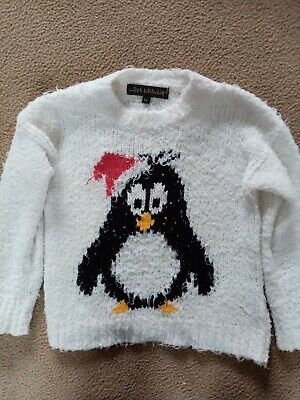 Excellent Condition girls age 3-4 gorgeous Christmas penguin winter jumper