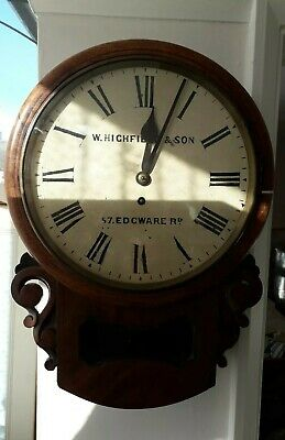 Antique wall clocks fusee Highfield & Sons  57 Edgware Rd