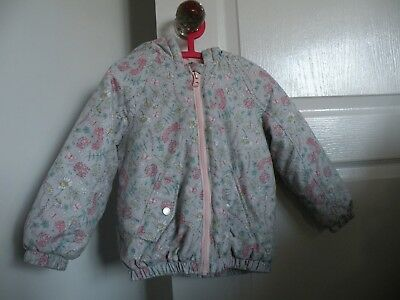 Girls Grey & Pink Quilted Jacket...age3-4Yrs