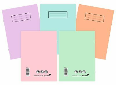 Silvine A4/A5 Pastel Exercise Books School Notebooks 80 pages Class  Homework