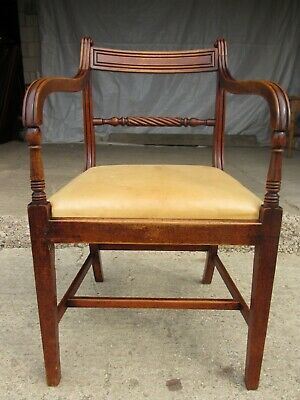 Georgian mahogany armchair with drop in upholstered seat (ref 749)