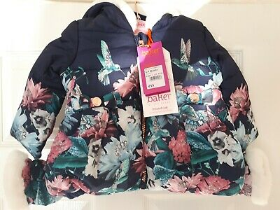 Ted Baker Girls Floral Print Coat And Mittens - 6-9 Months - BNWT