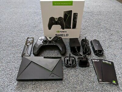 Nvidia Shield TV 4K HDR 16GB Boxed with controllers and cables
