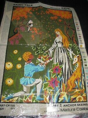 Fairy Tale Vintage Tapestry / Cross Stitch Canvas