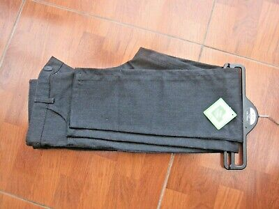 New Boys Charcoal Grey Slim Fit School Trousers Age 9-10 From George
