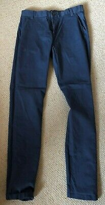 Next Boys Blue Chino Trousers - Age 15 Years