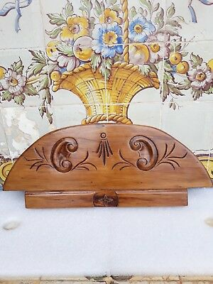 Antique Architectural Hand Carved Wood Pediment