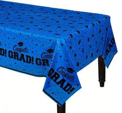 "Select Theme Graduation Table Covers Black or Blue Themes 54""x108"" 1 Cover//Pk"