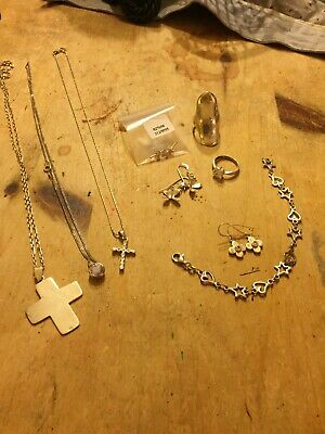Job Lot of Quality sterling Silver Jewellery, bracelet,necklaces, brooch rings