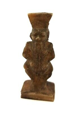 Bes Sculpture Bisu God Statue Egyptian Antique Icon Of Sex Faience  654 BC RARE