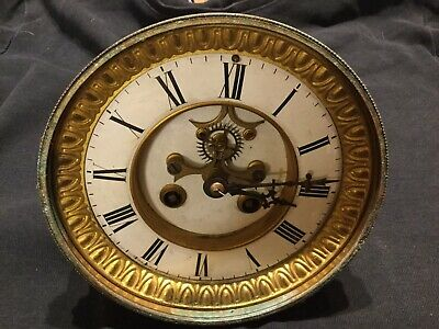 Antique French 8 Day Striking Clock Without Glass For Restoration