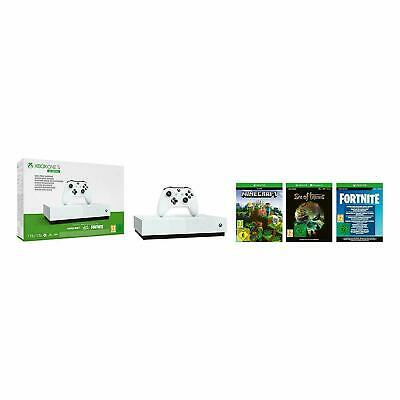 Xbox One S 1TB All Digital Edition Fortnite Sea Of Thieves Minecraft UK VERSION