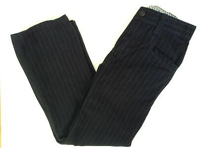 Boy's NEXT Striped Formal Trousers - Navy- Age 9 / 134cm - Good USED condition