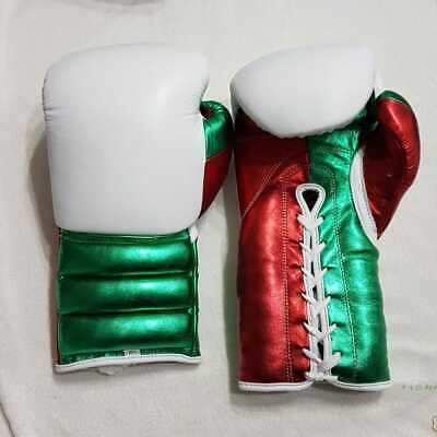 New Custom made boxing gloves with any logo or Name no winning,no grant