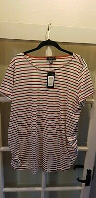 New Look Stripe Jersey Maternity Top Size 20