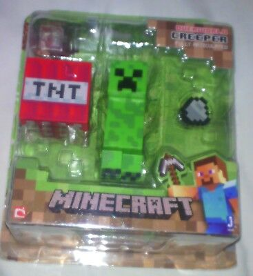 Minecraft Series 1 Overworld Steve Survival Pack & Creeper 2 Figures Accessories