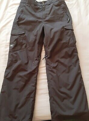 Boys Grey Ski Winter Snow Waterproof Trousers Helly Hansen Size 164/ 14 Years