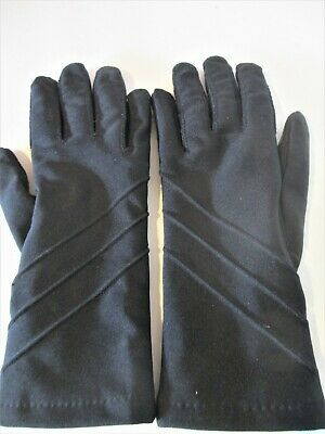 Black Stretch Comfort One Size Ladies' Driving Casual Gloves EXCELLENT
