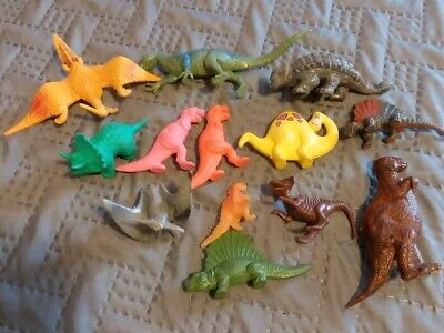 Dinosaur Plastic Rubber Mixed Toy Lot