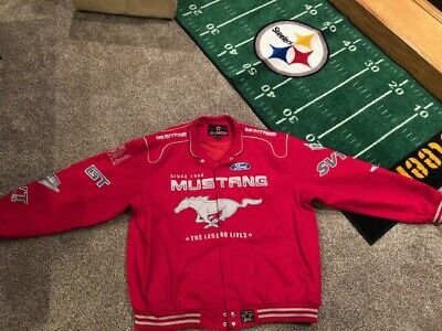 JH Design Ford Mustang Jacket Mens 3X 3XL Embroidered Red