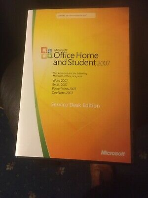 Microsoft Office Home And Student 2007 (Service Desk Edition)