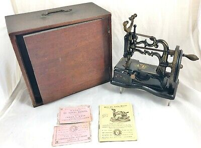 Victorian Very Rare James G Weir 55/- Sewing Machine Boxed With Instructions