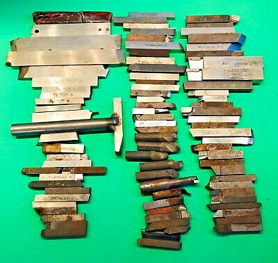 Lot of Machinist 89 Lathe Tool Bits Carbide Kennametal MoMax Carboloy