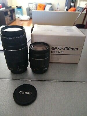 Canon EF 28-80mm AND Canon EF 75-300mm - set of Two lenses -Mint