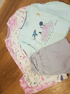 Marks and spencer Girls Pjs 4-5 Mix And Match 6 Part Set Space Theme