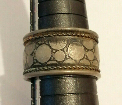 ANCIENT Roman legionary Metal Color Silver Ring Decorated
