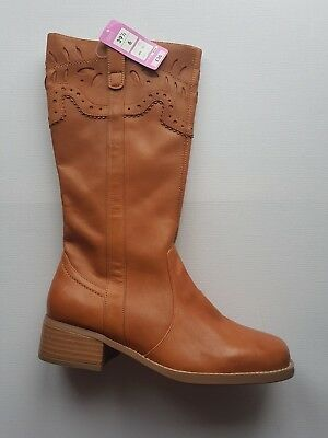 Leather boots M&S size 6 (children) for Girls