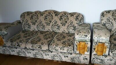 Art Deco Club Lounge and 2 Armchairs