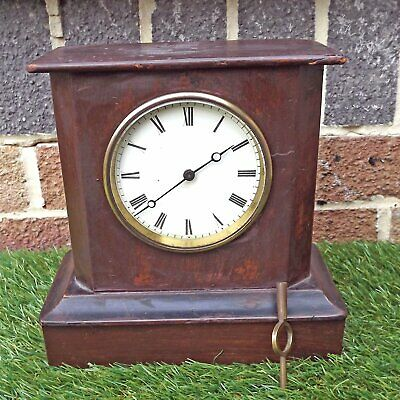 Wooden French Style Mantle / Carriage Clock - Platform Escapement For Attention
