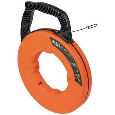Klein Tools Steel Fish Tape Electrical Wire Pulling Tool Multi Grip Handle 240Ft